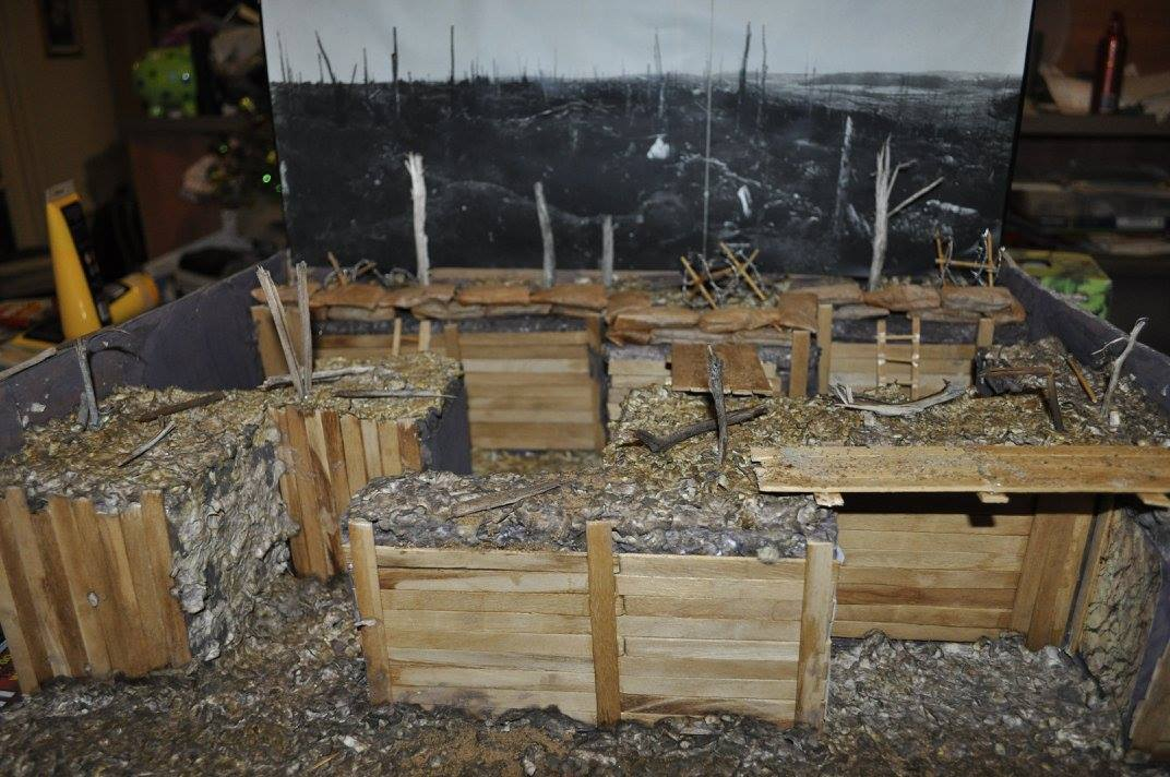 Ww1 Trench Model Diorama Project Idea And Easy Project